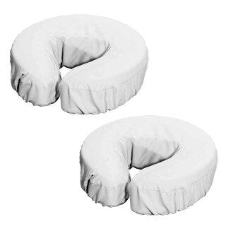 Kopfpolsterbezug aus Microfaser 2er Set Weiß
