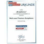 Pfanne Guss-Pfanne Hochrandpfanne 28 cm  NOWO Titanium  -...