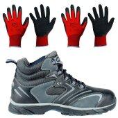 Cofra Sicherheitsschuhe New Fitness Black S3 inklusive 2 Paar Arbeitshandschuhe Größe 9 & 10 Größe 45
