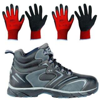 Cofra Sicherheitsschuhe New Fitness Black S3 inklusive 2 Paar Arbeitshandschuhe Größe 9 & 10 Größe 47