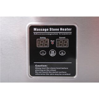 Hot Stone Set Basic Heater ca. 5,5 liter + 45 Hot Stones - Promafit