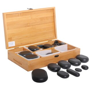 Hot Stone Set Basic Erwärmer + 45 Hot Stones