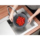 Kochtopf mit Deckel 24 cm 5,0 Liter + Siebeinsatz Concept-Plus - Woll