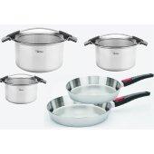 Woll- concept pro Saucepan 5 pieces 3x Pots + 2x Pan Pot Pan Induction