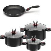 Ballarini Click & Cook pot Set Saucepan with lid...