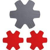 Set 3-tlg. Pfannenschutz 1x grau 40 + 2x rot 35 - Woll