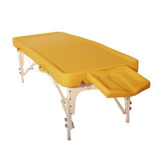 Massage table Ayurveda RIO 81cm mit Vollrolle & Halbrolle Gelb - PROMAFIT