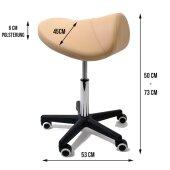 Sattelhocker Massagin chair braun - PROMAFIT