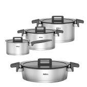 Woll Concept Induction Cookware Set Saucepan 5 piece including Stiel- Wok