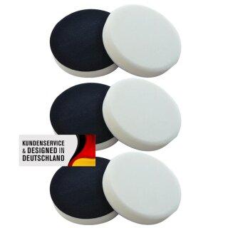 6x white polishing pad 180 mm, SOFT