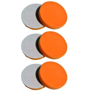 6x Polierschwamm orange 150mm, MEDIUM