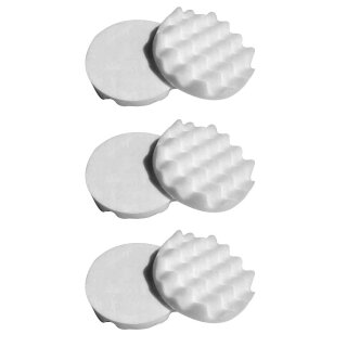 Honeycombed 6x Polishing Pad, beige 150 mm, SOFT