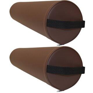 2x Lagerungsrolle, Vollrolle - Sparset 1 - Promafit Braun