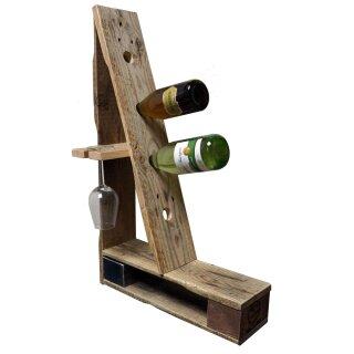 """Flaschenständer """"Climbing"""" aus Palettenholz"""